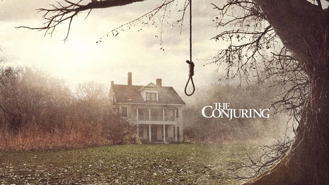 The Crooked Man. The movie poster shot for the conjuring in where a woman hung herself of the back yard tree.