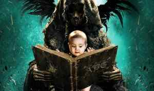 Teacher facing prison for showing students the abcs of death. The abcs of death dvd cover and movie poster image with a grim reaper type reading a baby his abcs.