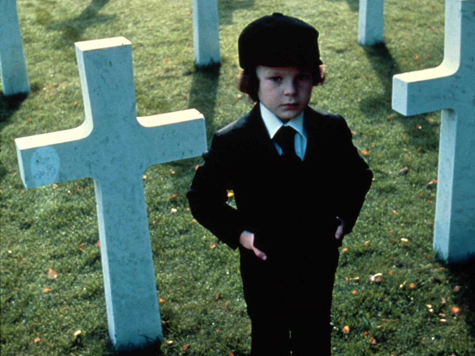 damien from the hit demonic movie The Omen from 1976 directed by richard donner