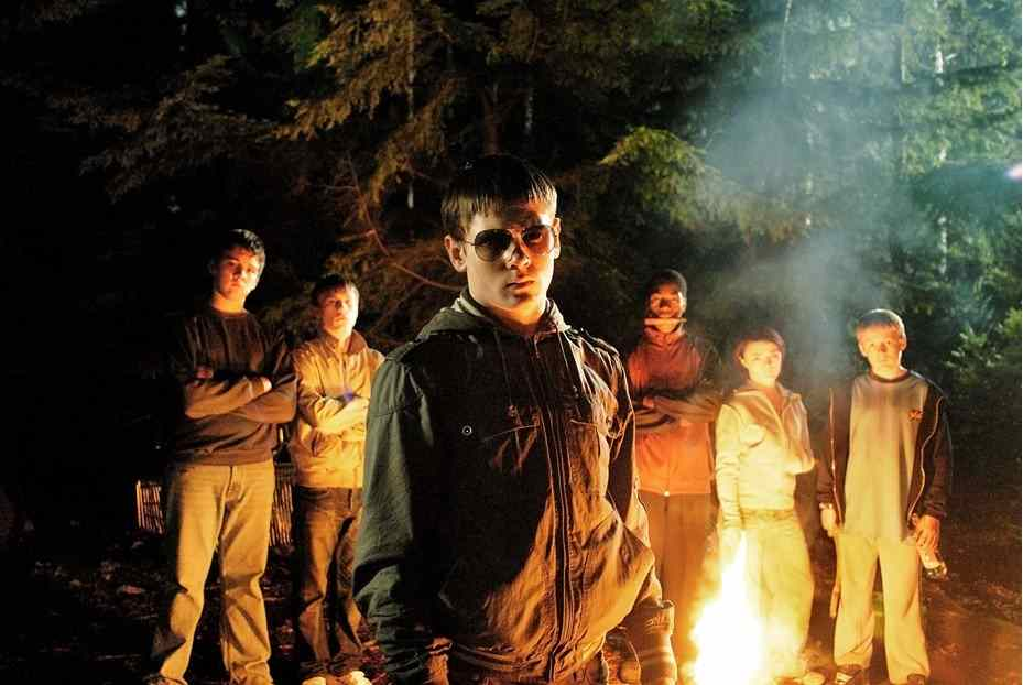 The gang of teenagers that terrorize whoever they can lead by Brett played by Jack O'Connell in the movie, Eden Lake directed by James Watkins.