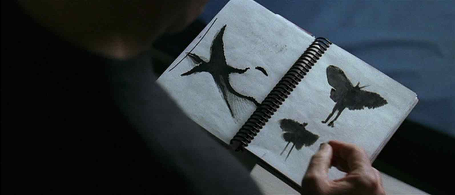Drawings by what the mothman looks like in the movie starring Richard Gere and Laura Linney.