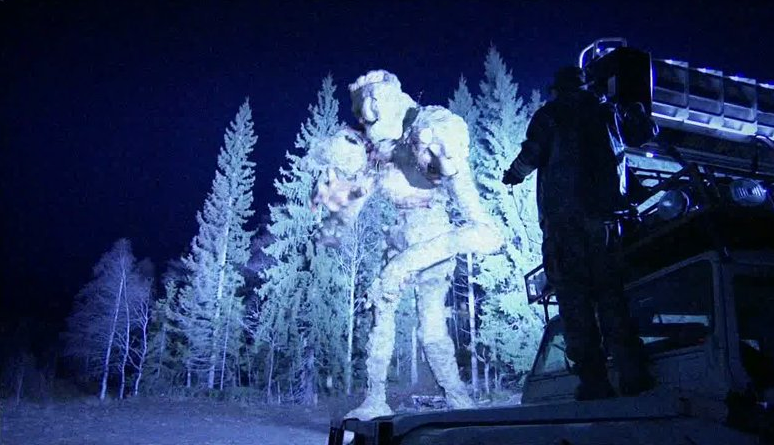 The jotnar troll is shot with a rocket launcher and turned to scott. The Troll Hunter is directed by André Øvredal.