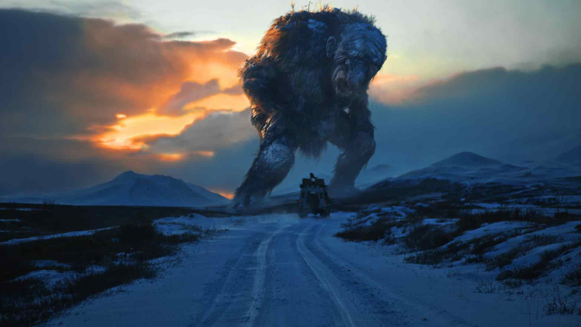 Jotnar the troll from the movie shot in Norway about trolls.