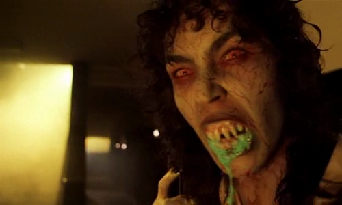 A possessed character in the 1985 film Demons.