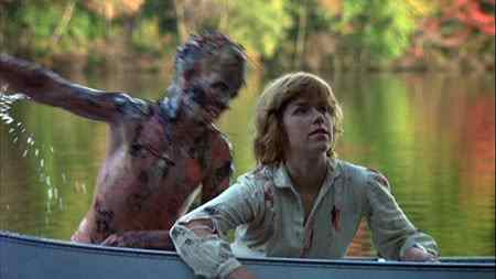 The infamous boat scene from Friday the 13th 1980. Written by Victor Miller and directed By Sean S. Cunningham