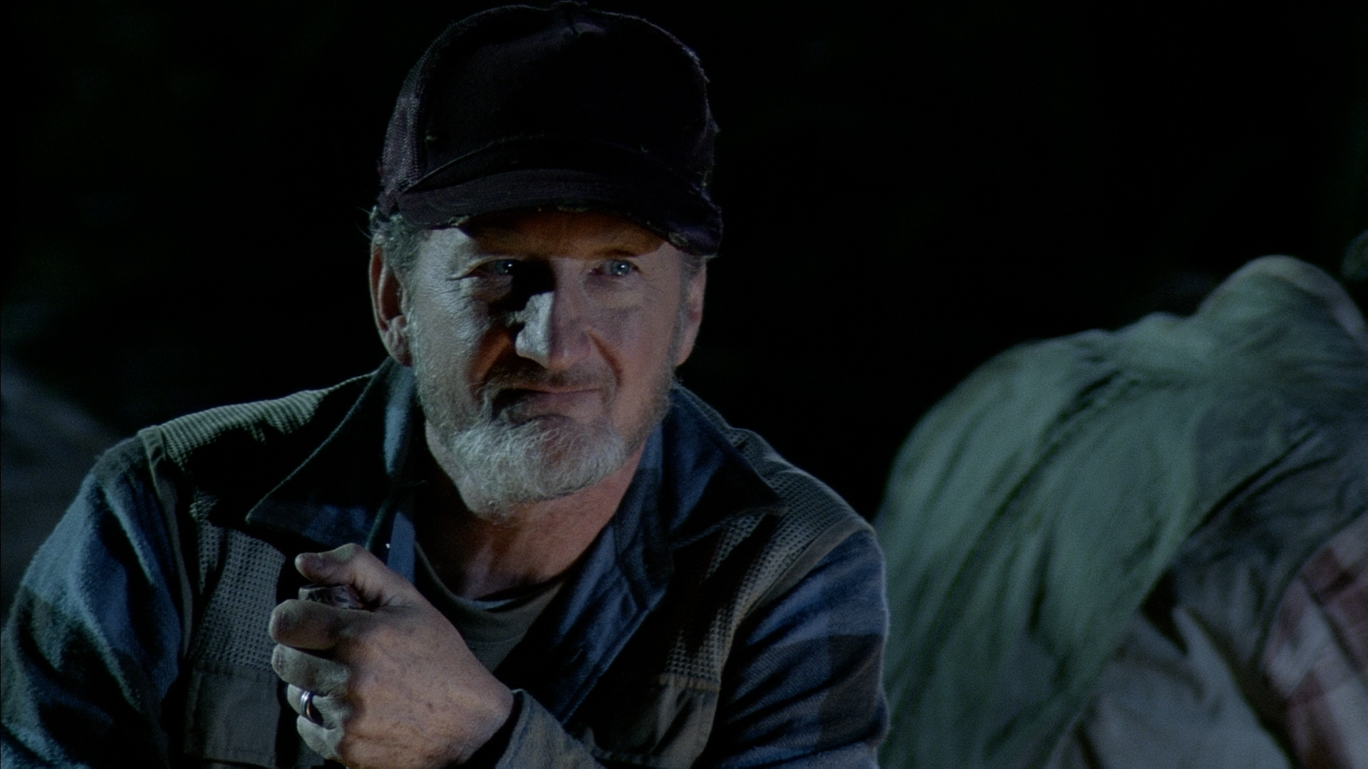 Robert Englund in the opening scene of Adam Green's slasher film Hatchet.