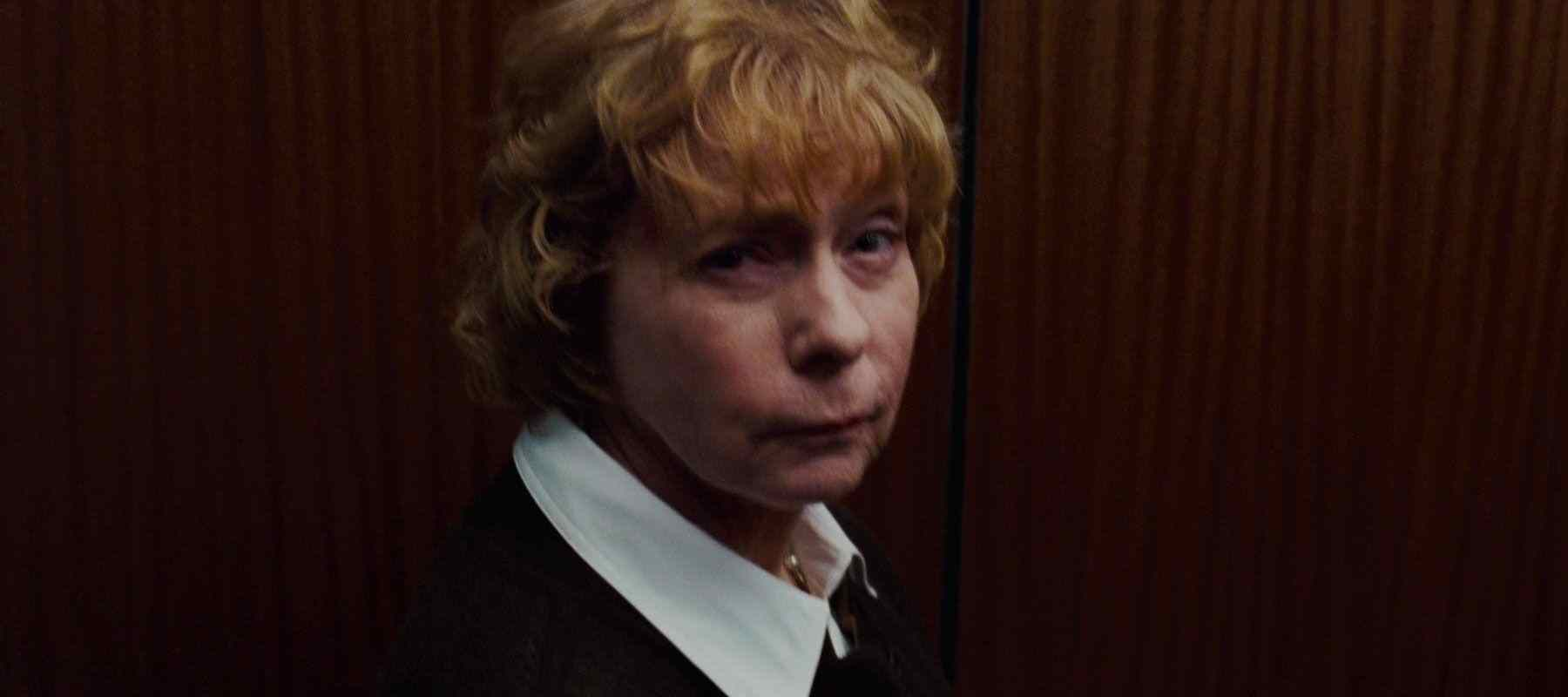 The cute old lady in the devil movie.