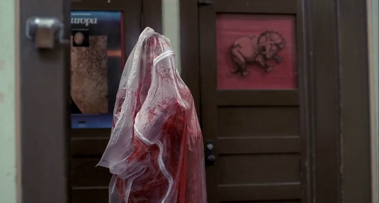Nancy dreams she sees Tina in a body bag at school in the 1984 Wes Craven helmed slasher film A Nightmare on Elm Street.