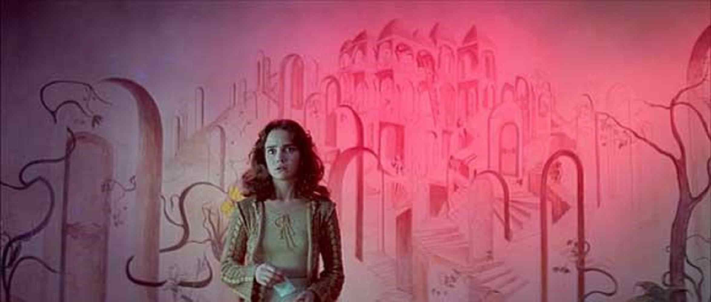 Jessica Harper playing Suzy, outside the witches lair in Dario Argento's Suspiria.