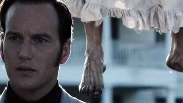 Bathsheba Sherman on the tree she hung herself on with patrick wilson playing ed warren in the trust story horror movie, The Conjuring.
