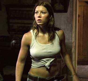 Stunning Jessica Biel who plays erin in the movie the texas chainsaw massacre.