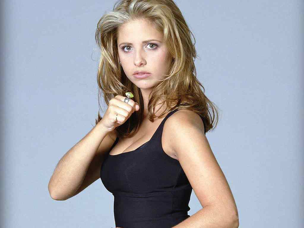 Sexy sarah michelle gellar who plays buffy in the popular 90's series buffy the vampire slayer.