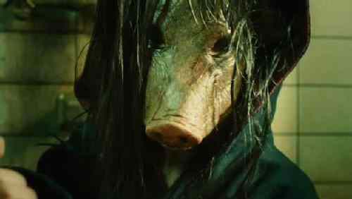 The pig mask killer in the saw movie franchise.