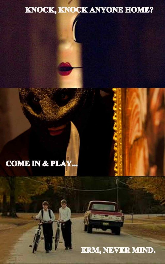 The Strangers directed by Bryan Bertino and The Collector directed by Marcus Dunstan.