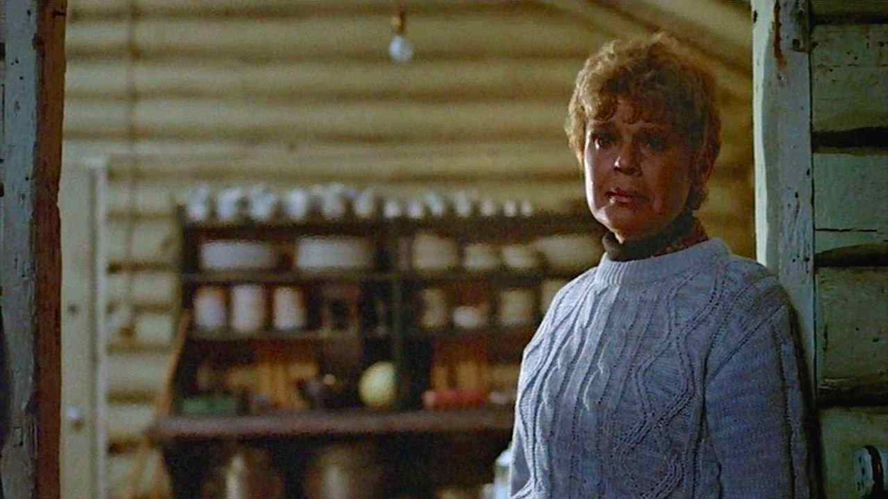 Betsy Palmer as Mrs. Voorhees in Sean S. Cunningham's slasher classic Friday the 13th 1980.