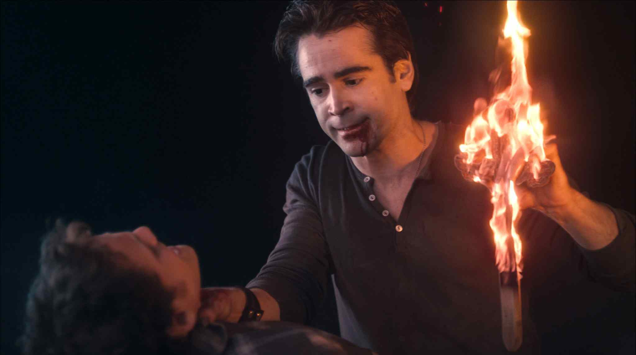 Jerry with a burning cross in Craig Gillespie's 2011 Fright Night remake.