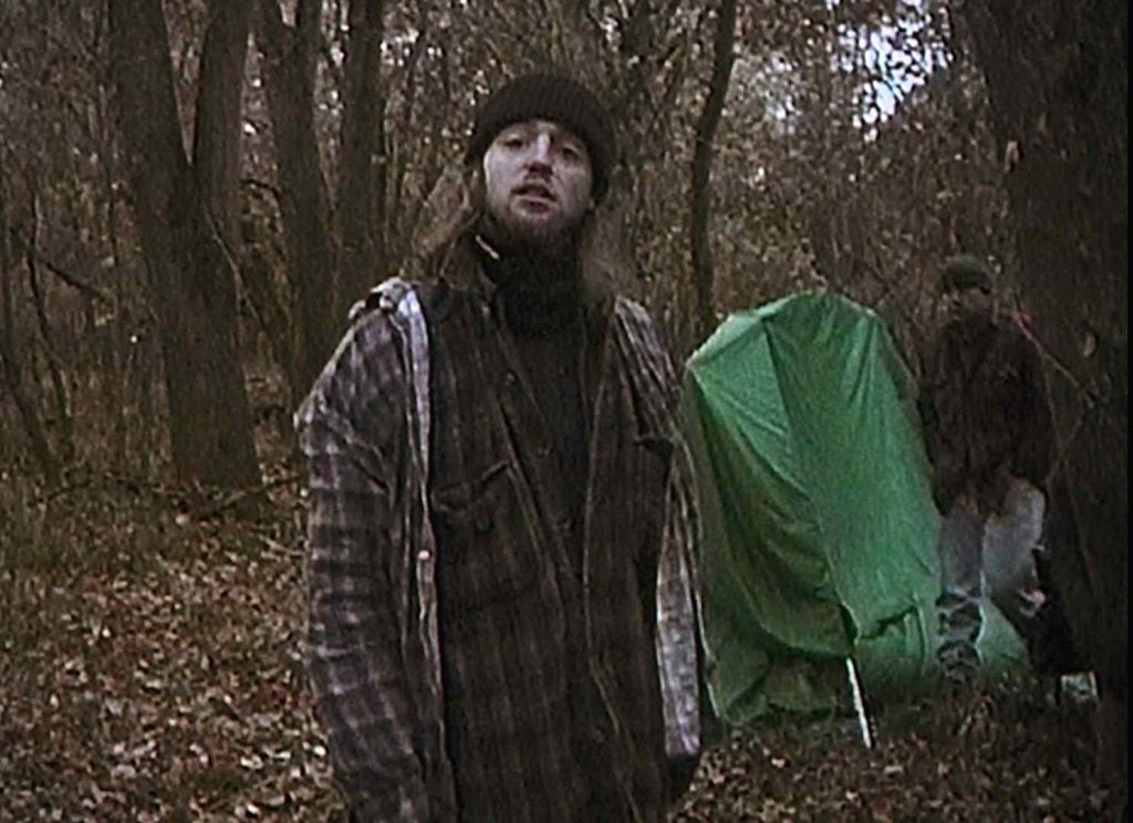 Josh Leonard and Michael Williams as themselves in Daniel Myrick and Eduardo Sanchez's The Blair Witch Project