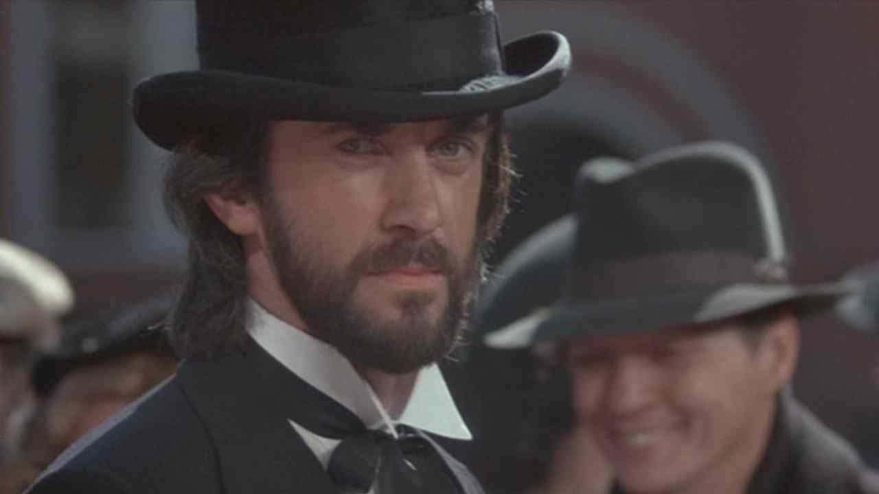 Mr. Dark (Jonathan Price) in the Jack Clayton family horror film Something Wicked this way Comes.
