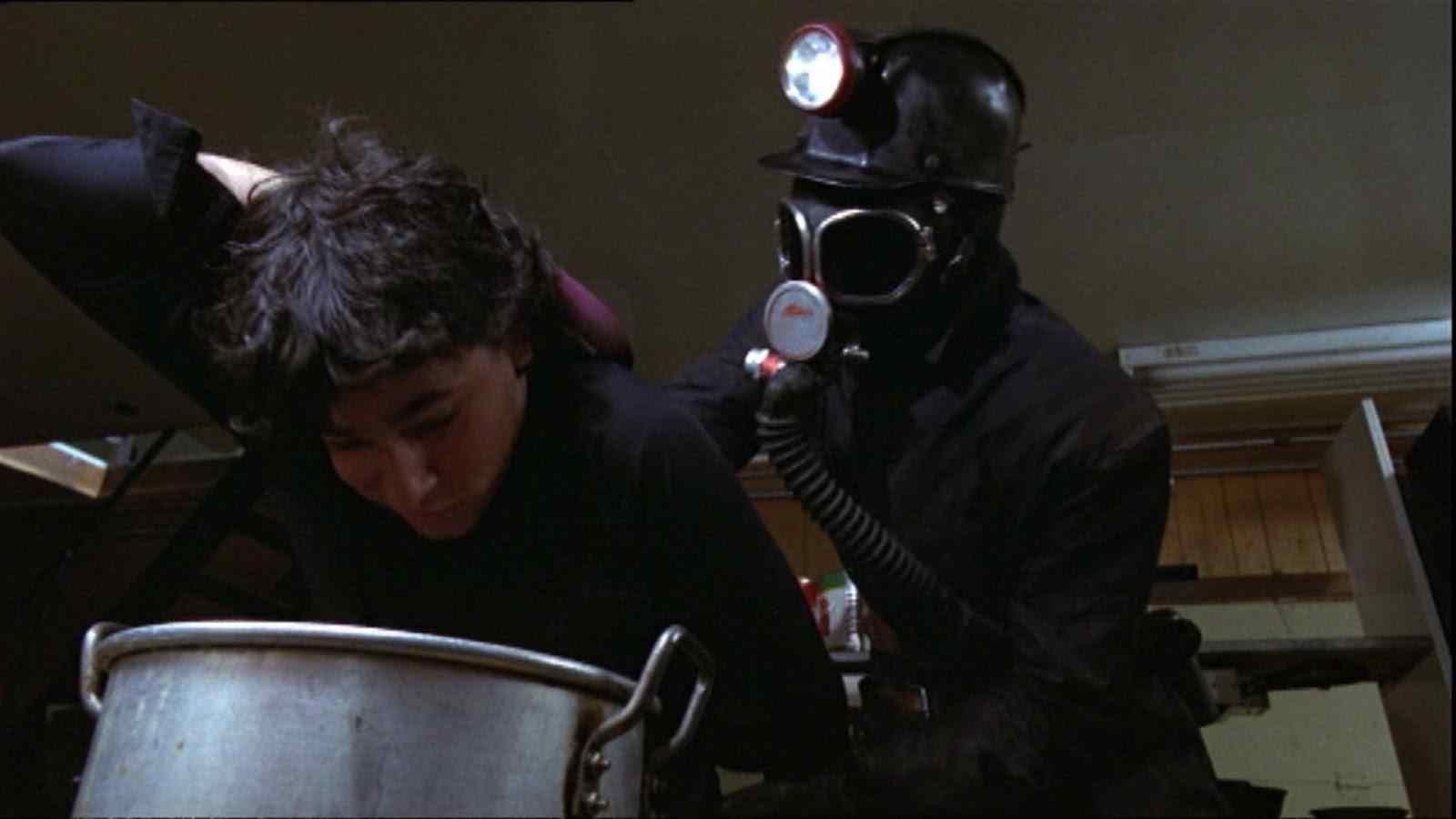 Hot dog water kill scene from the 1981 George Mihalka helmed horror film My Bloody Valentine.