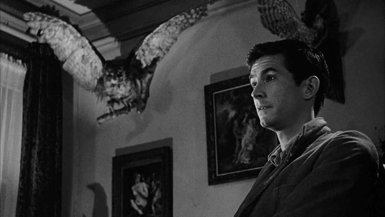 Norman Bates (Anthony Perkins) in Alfred Hitchcock's Psycho.