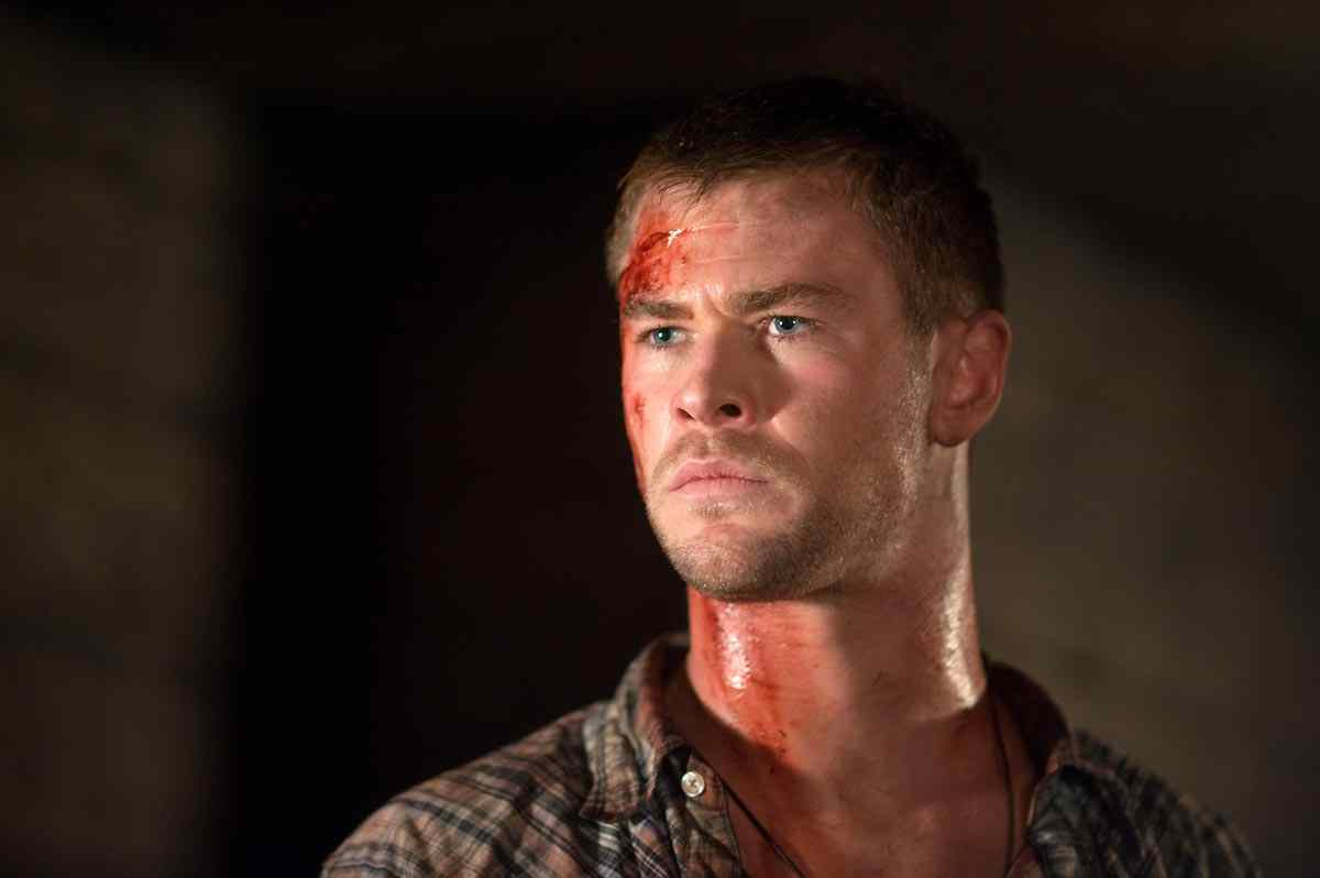 Thors, Chris Hemsworth, in the horror The Cabin in the woods.