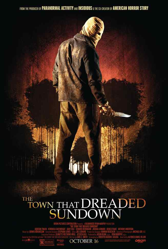 Poster for Alfonso Gomez-Rejon' remake of The Town that Dreaded Sundown.