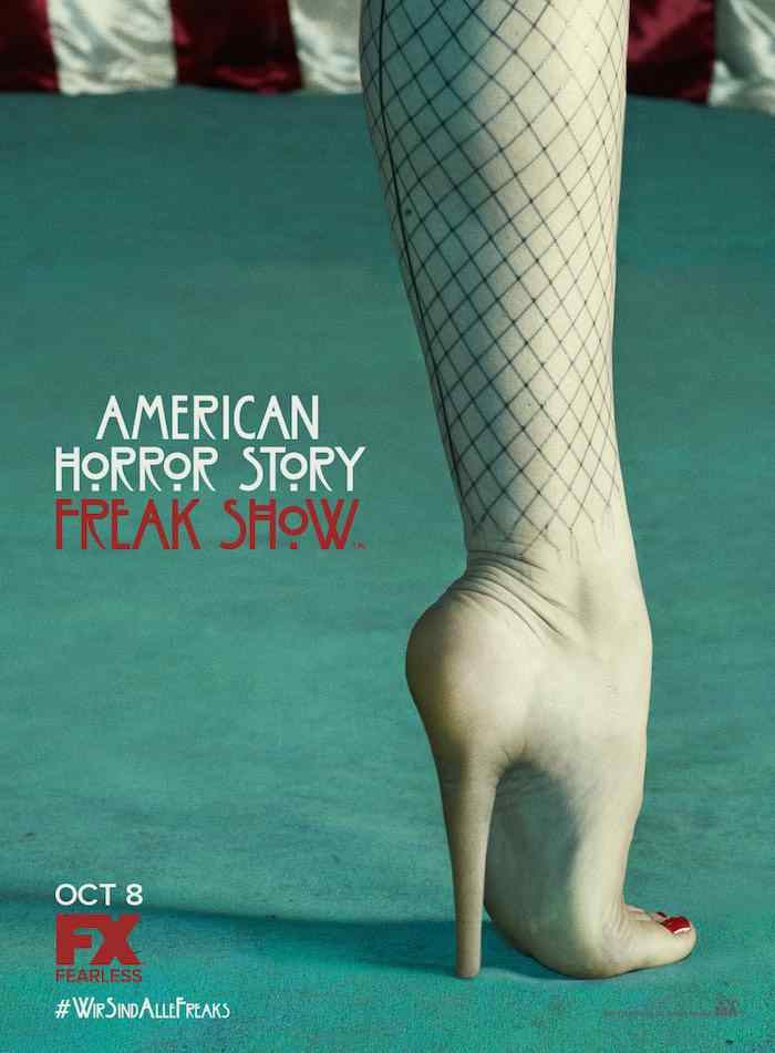 Teaser poster for Ryan Murphy's American Horror Story: Freak Show.