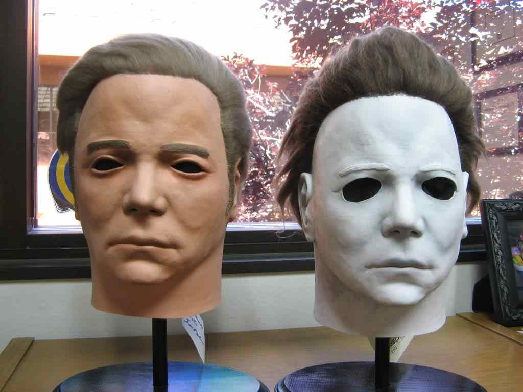 william shatners face was the mask used for Michael myers in the hit Halloween franchise.