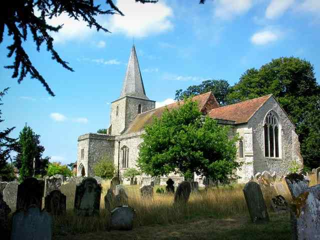 Ghosts are said to stalk the graveyard o pluckley church in Kent, UK.