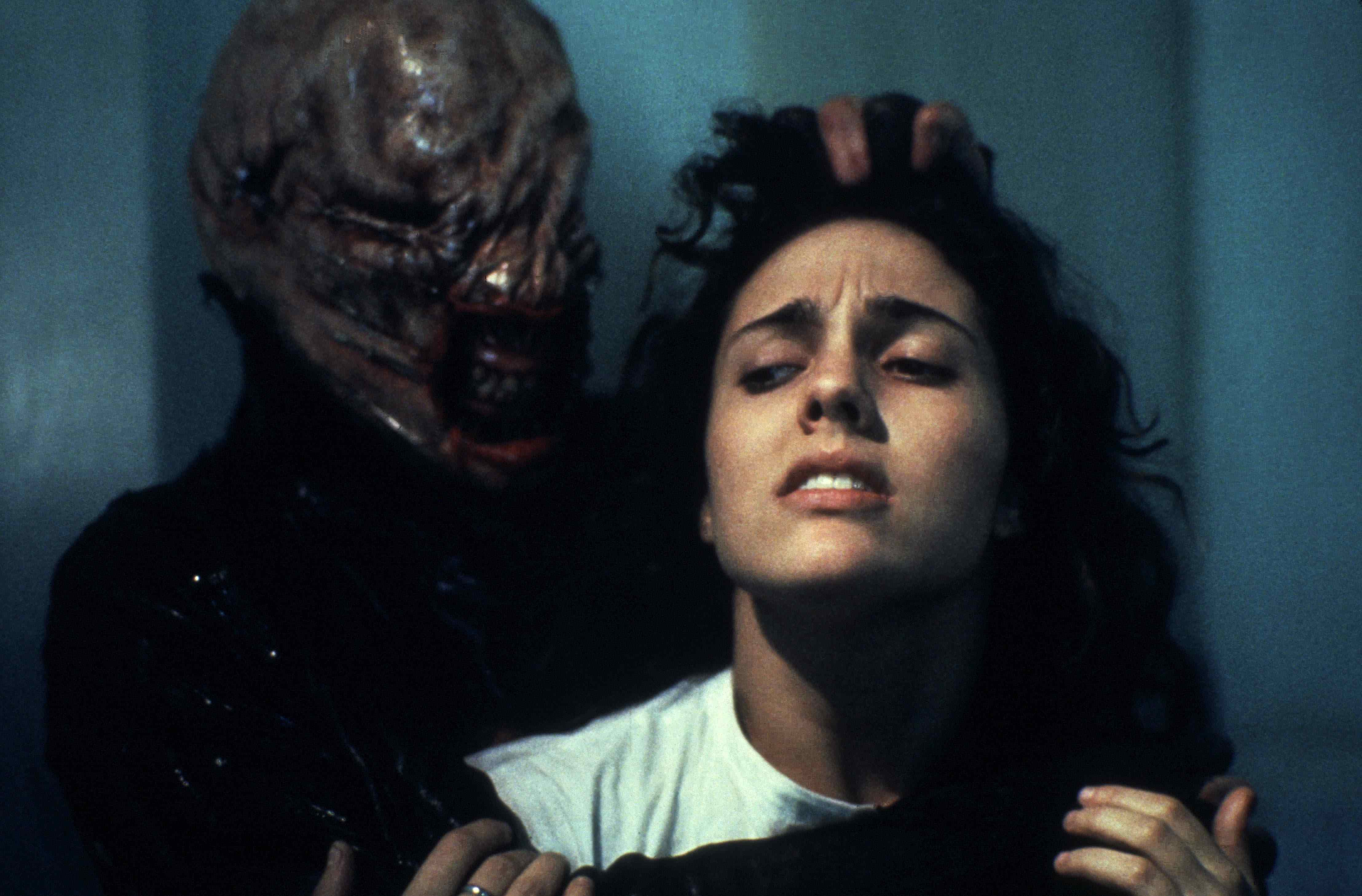 The Chatterer and Kirsty in Hellraiser