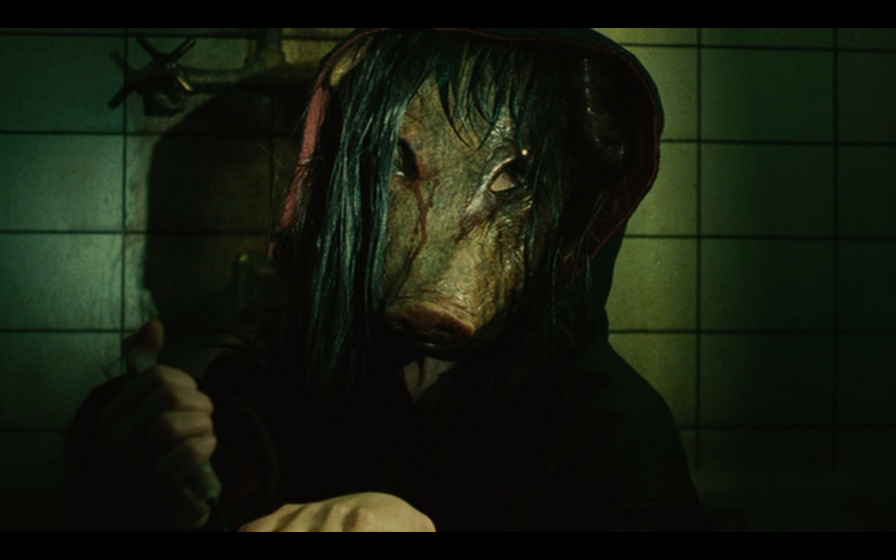 The collector for the games in the Saw franchise, the pig masked villain.