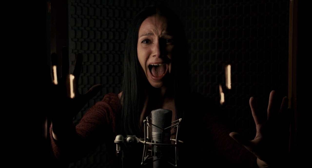 Screaming starlet, recording sound for Equestrian Vortex, as seen/hear in Berberian Sound Studio.