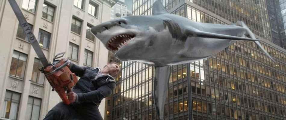 Shark Vs. Chainsaw in Sharknado 2: The Second One.