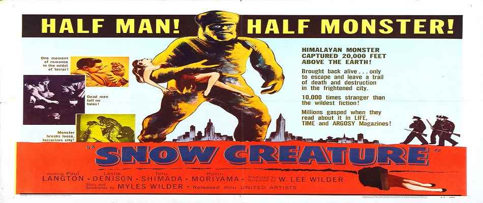 Poster from 1954's Snow Creature