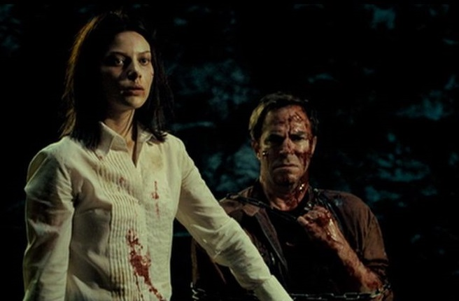 Beth manages to get the upper hand on both her torturer Stuart, and the Elite Hunting club.