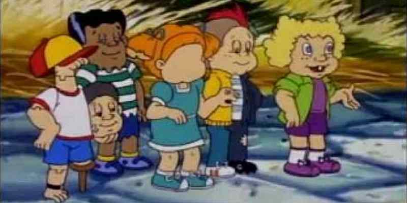 The core cast of Garbage Pail Kids from the animated series