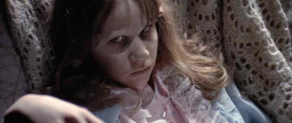 Linda Blair as Regan McNeil in the Exorcist.