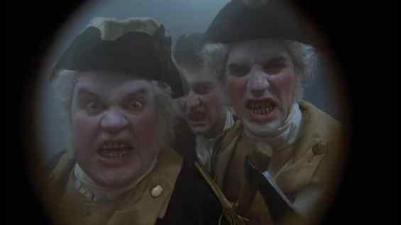 The Washingtonians through the peephole in Masters of Horror