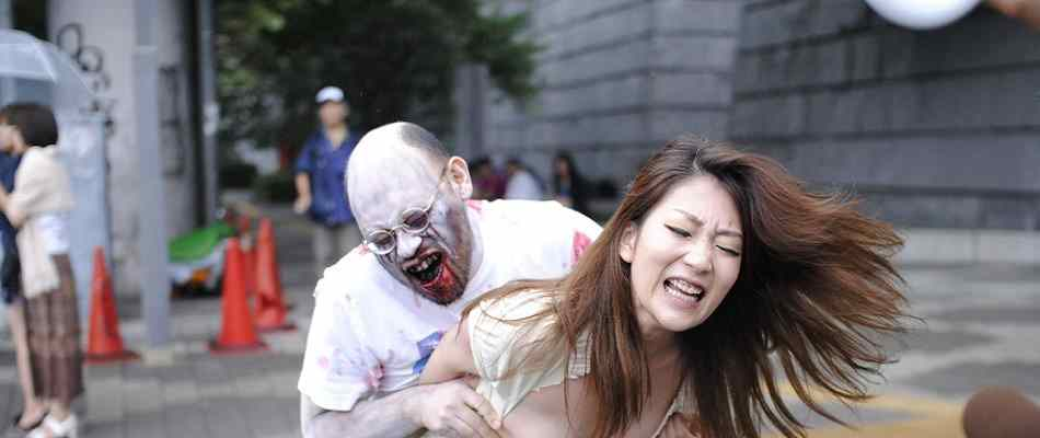 Inappropriate touching by lustful zombies in Lust of the Dead
