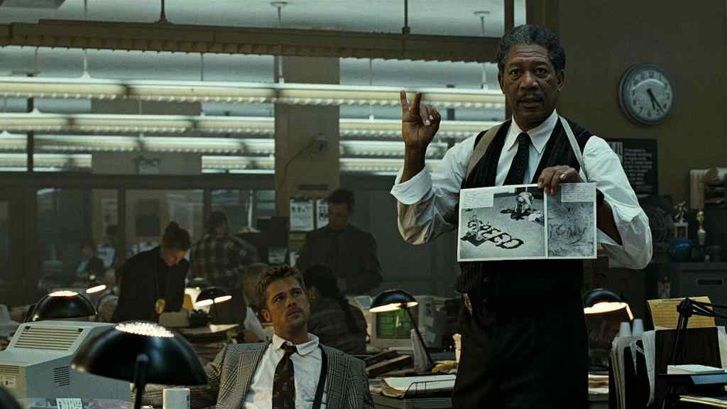 Morgan Freeman Brad Pitt Se7en