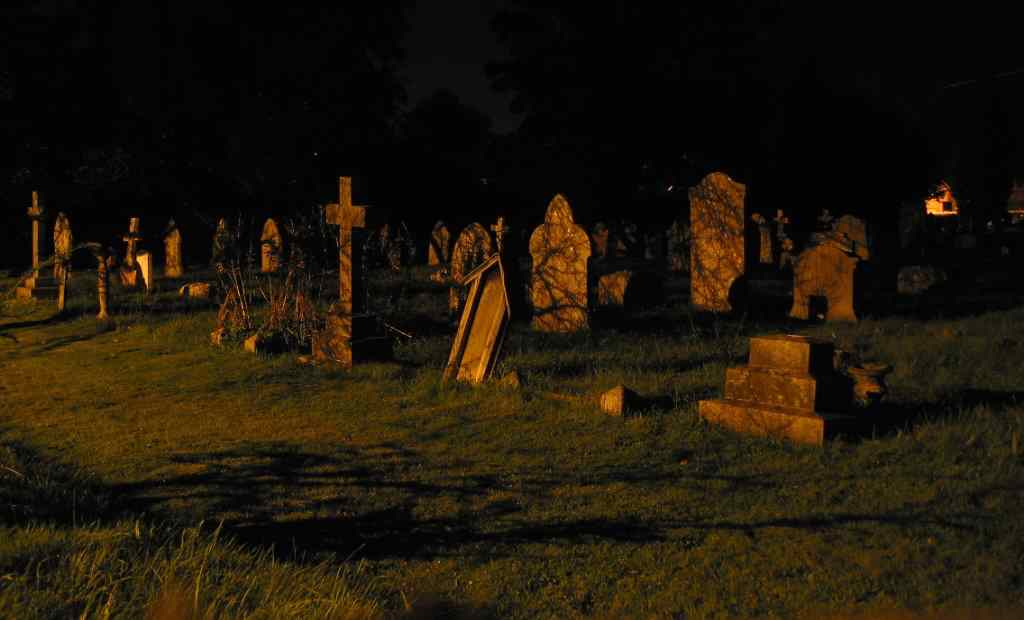Graveyard at Night.