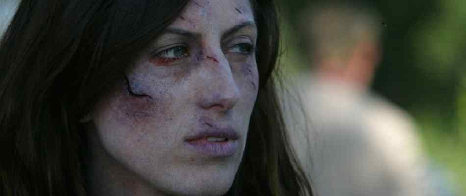 Battered and abused from 2007 horror movie Lake Dead.