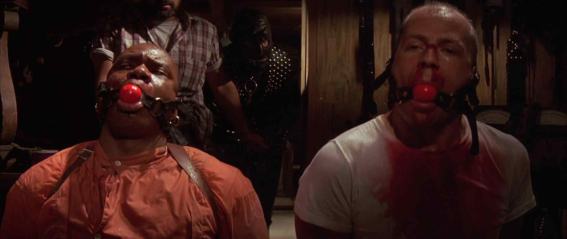 Bruce Willis and Ving Rhames in Pulp Fiction