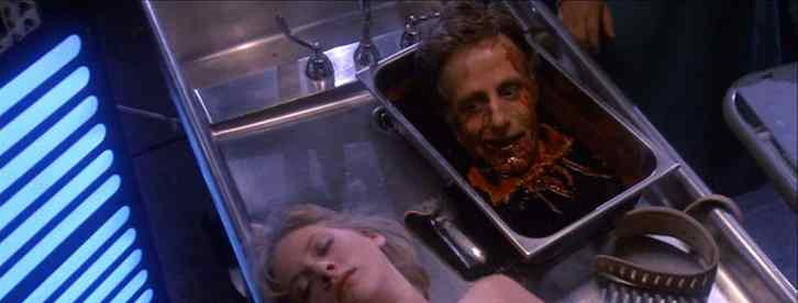 The infamous head scene in Re-Animator
