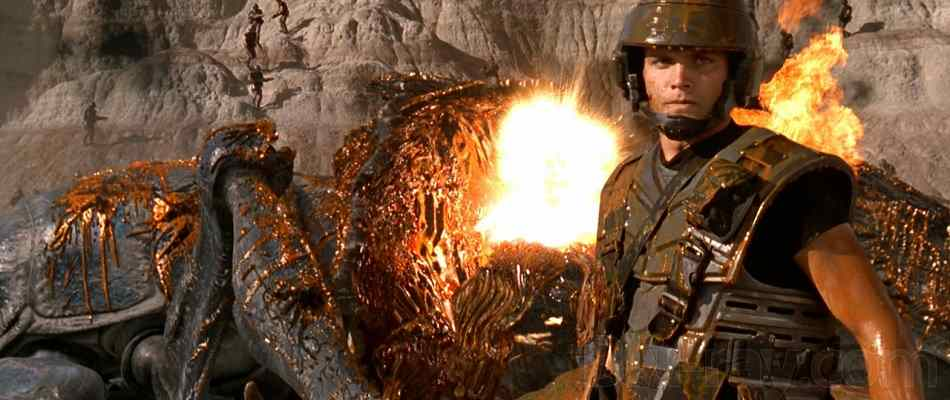 Still from cult favorite sci-fi movie Starship Troopers.
