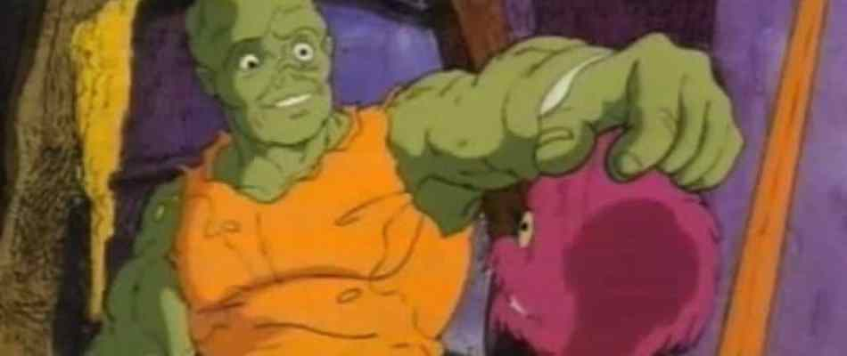Toxie and Blobby from Troma's animated series, The Toxic Crusaders.