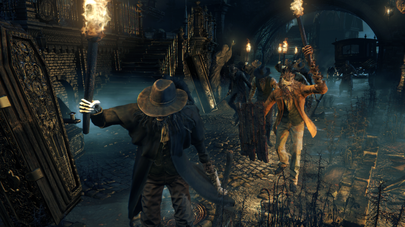 Angry mob from Bloodborne