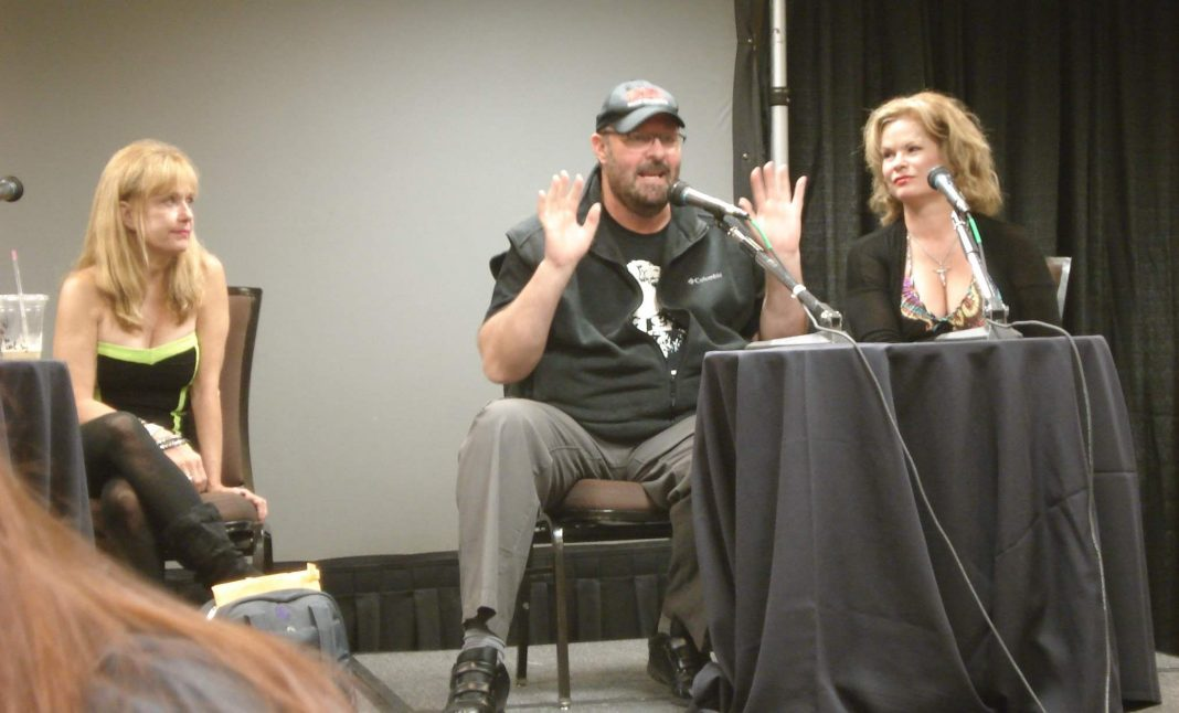 Panel with Night of the Demons cast and director at Texas Frightmare Weekend
