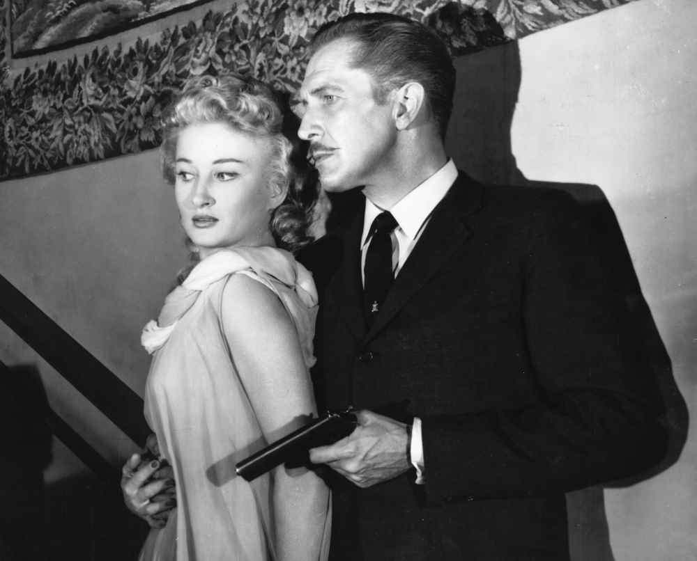 Vincent Price Carol Ohmart in House On Haunted Hill