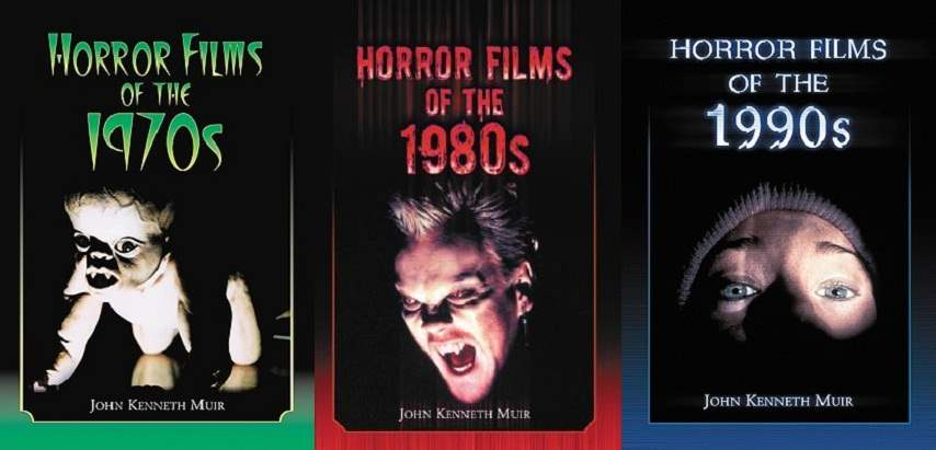 Cover images to Horror Films of the... series by John Kenneth Muir